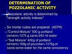 determination of pozzolanic activity