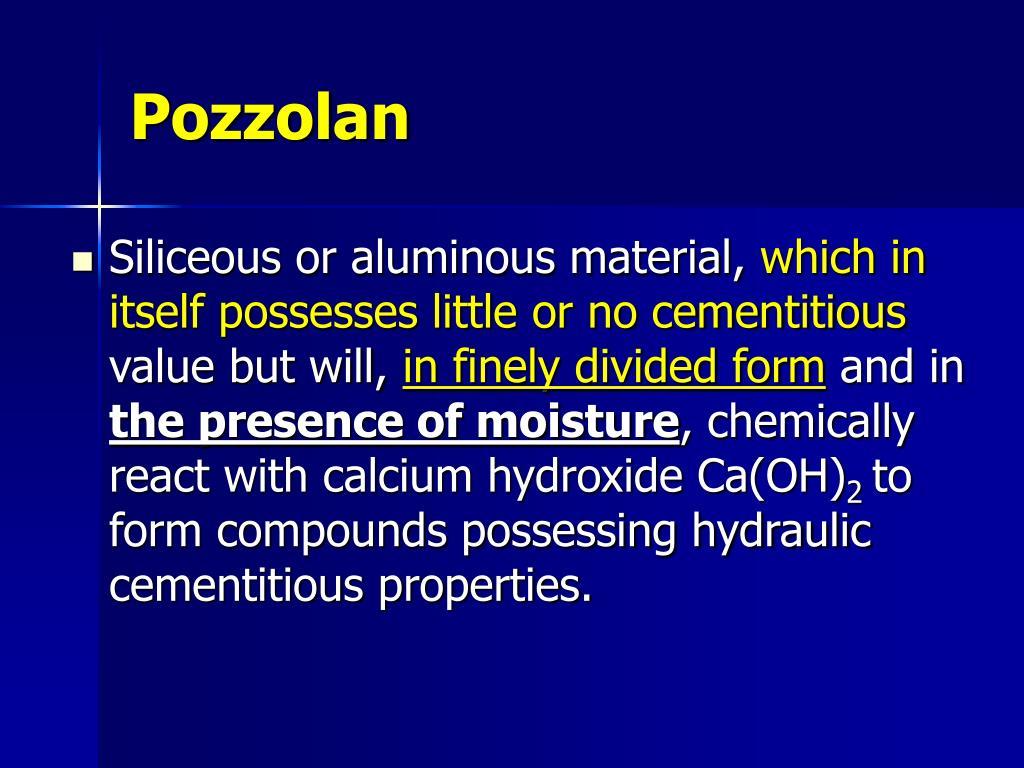 Pozzolan