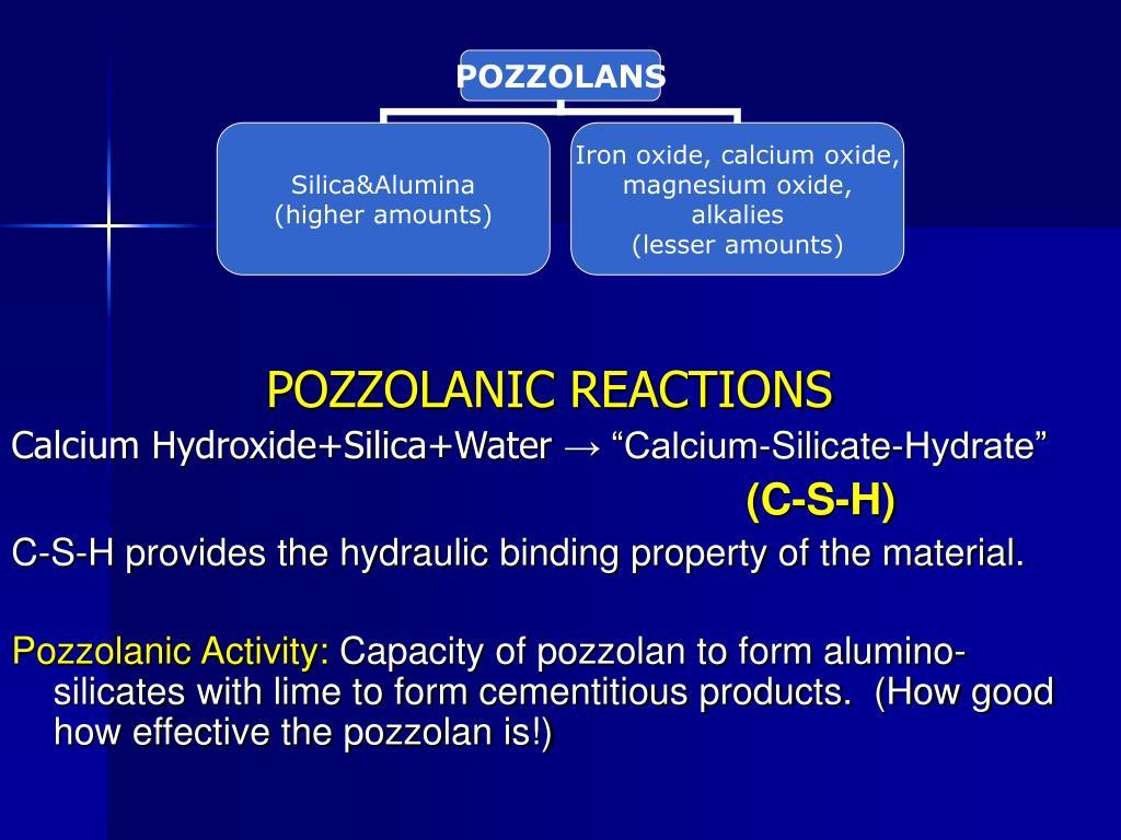 POZZOLANIC REACTIONS