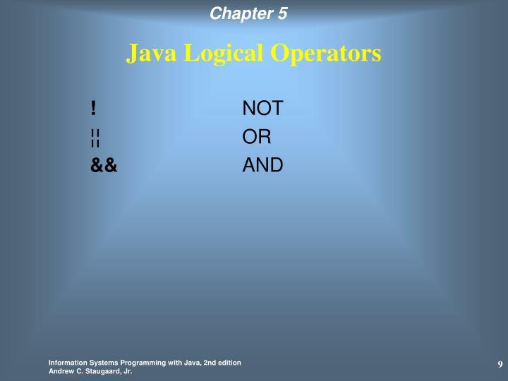 Java Logical Operators