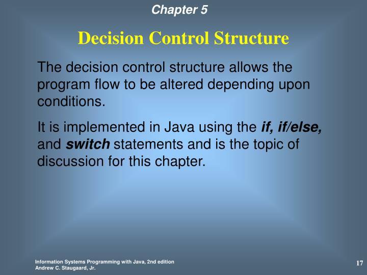 Decision Control Structure