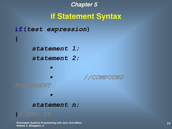if Statement Syntax