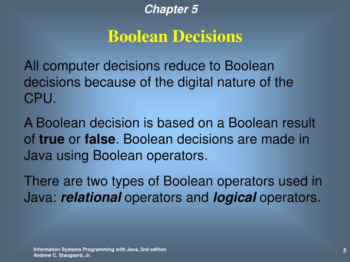 Boolean Decisions