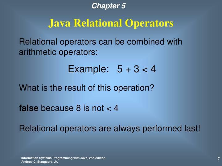 Java Relational Operators