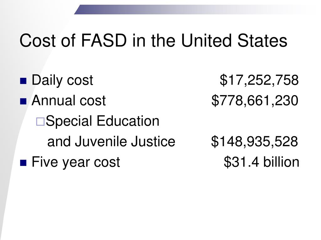 Cost of FASD in the United States