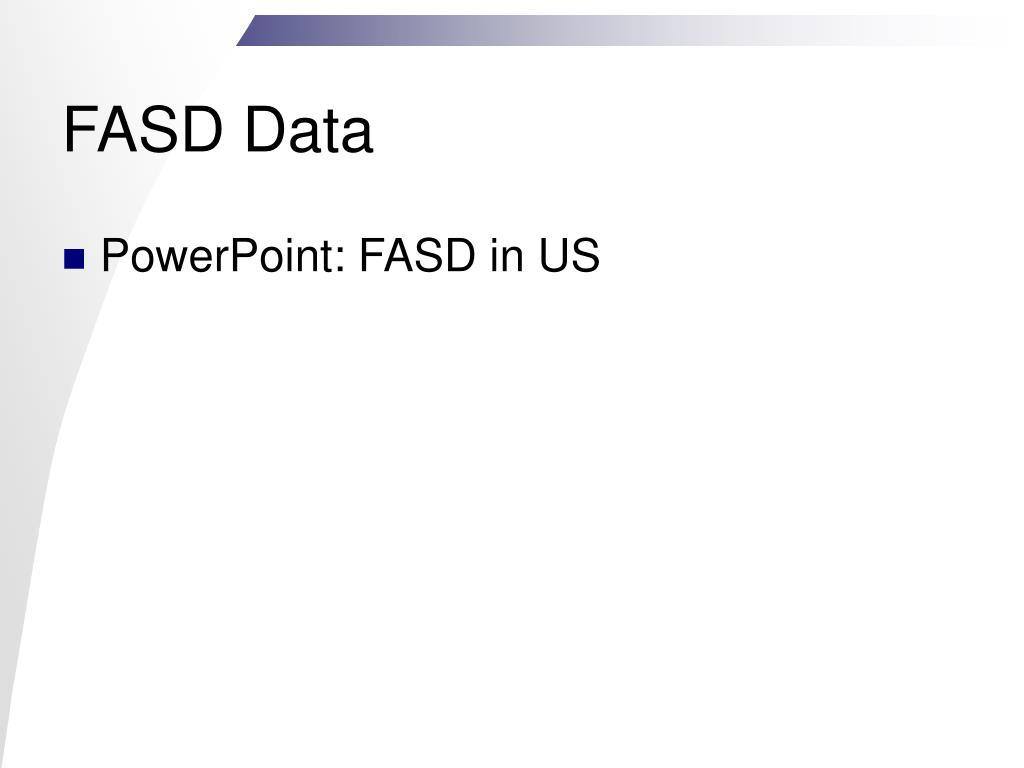 FASD Data