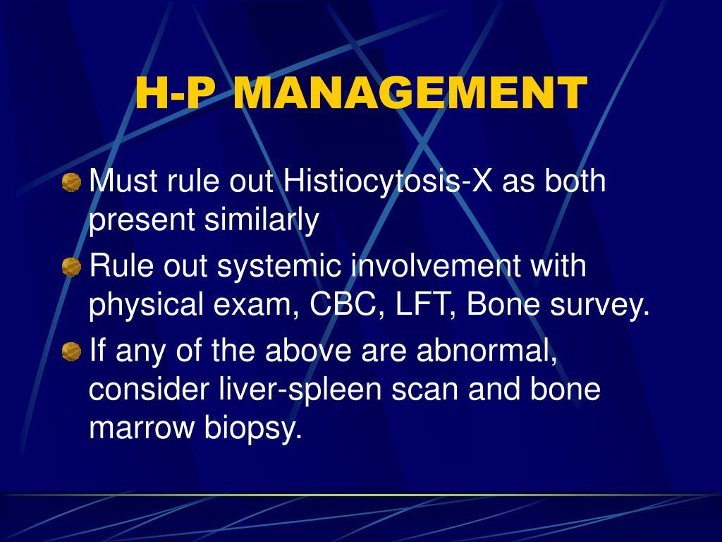 H-P MANAGEMENT