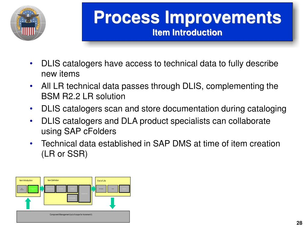 DLIS catalogers have access to technical data to fully describe new items