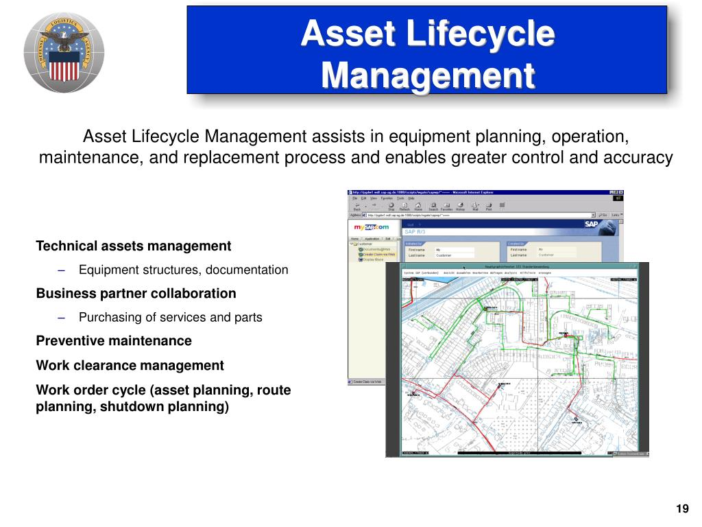 Asset Lifecycle Management assists in equipment planning, operation, maintenance, and replacement process and enables greater control and accuracy