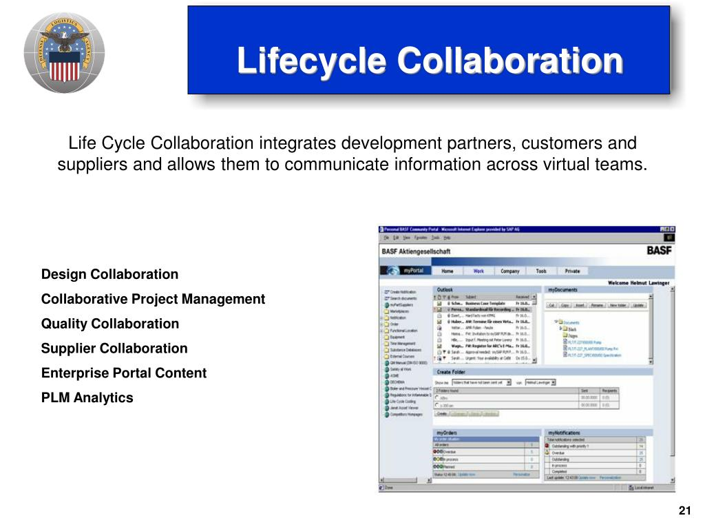 Life Cycle Collaboration integrates development partners, customers and suppliers and allows them to communicate information across virtual teams.