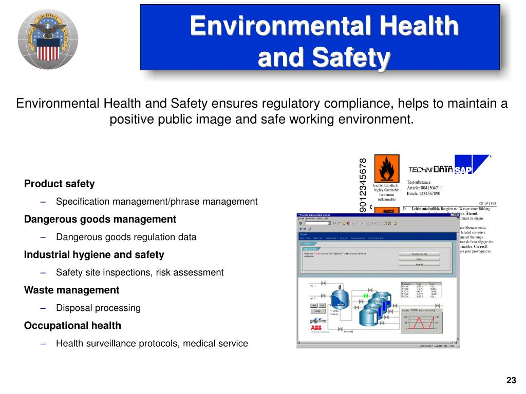 Environmental Health and Safety ensures regulatory compliance, helps to maintain a positive public image and safe working environment.