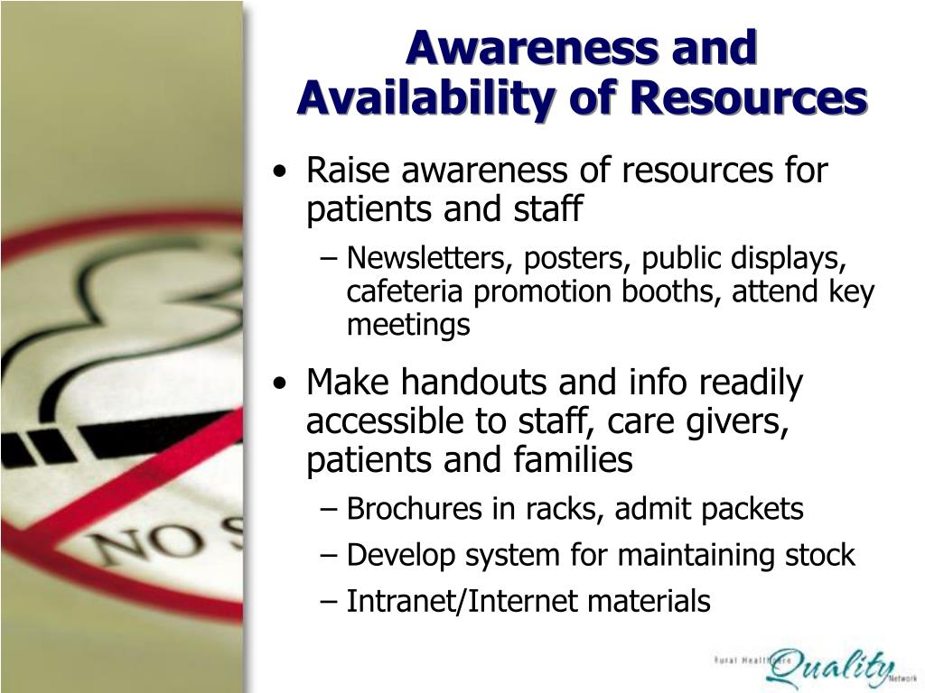 Awareness and Availability of Resources