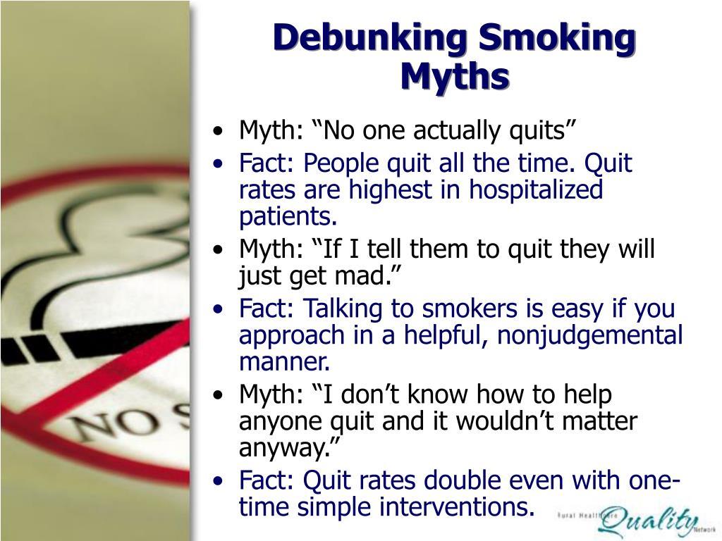 Debunking Smoking Myths