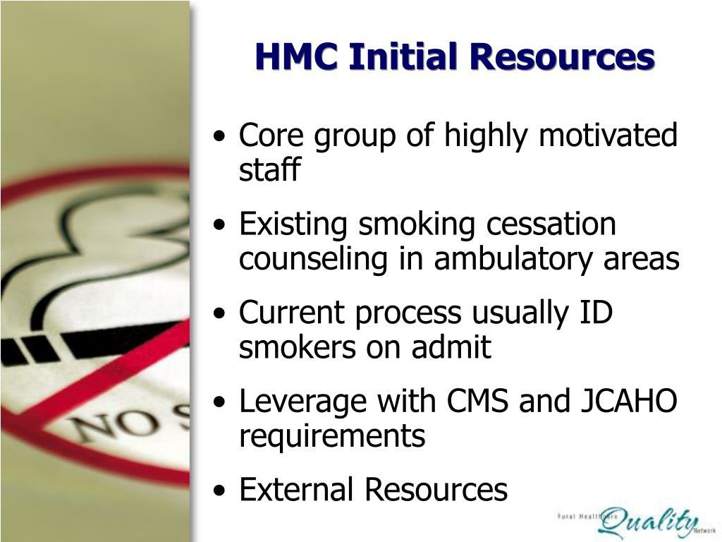 HMC Initial Resources