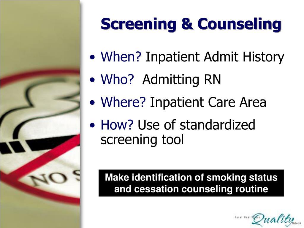 Screening & Counseling