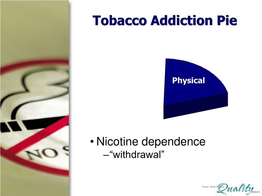 Tobacco Addiction Pie