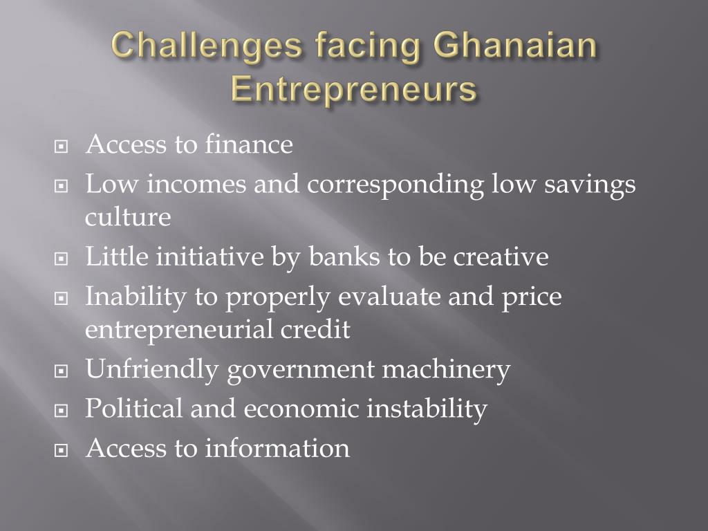 challenges faced by young entrepreneurs in Singaporean journal of business economics, and management studies vol3, no5, 2014 18 challenges facing entrepreneurs in nigeria.