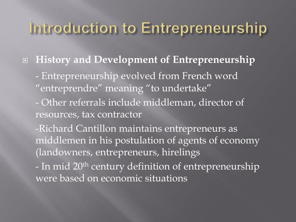 entrepreneurship essay introduction Introduction: a change in the economy has been identified recently,  entrepreneurship occurs in all types and sizes of organisations, from the domestic.