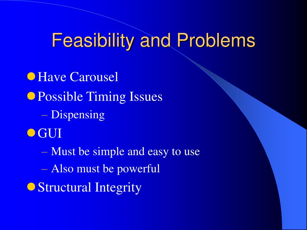 Feasibility and Problems