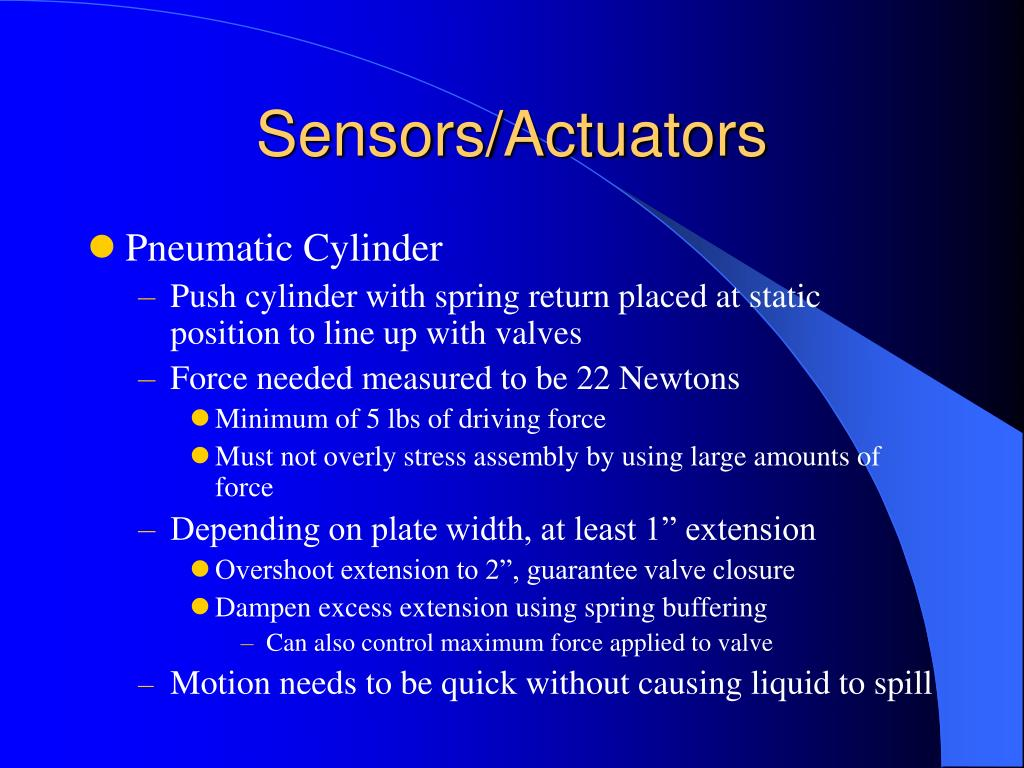 Sensors/Actuators