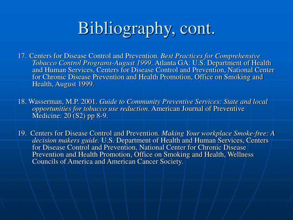 Bibliography, cont.