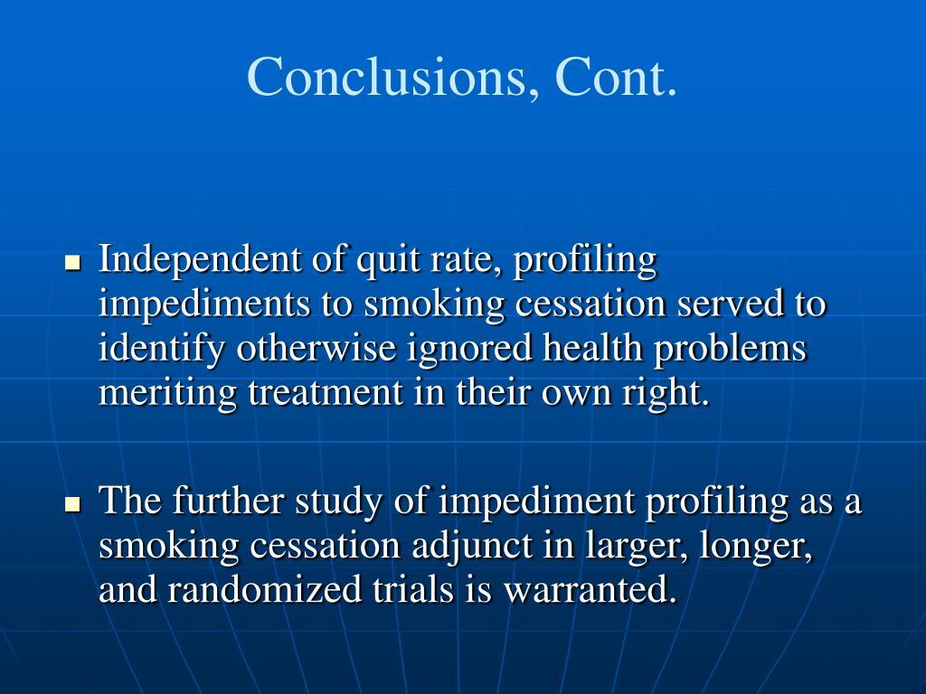 Conclusions, Cont.
