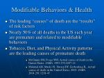 modifiable behaviors health