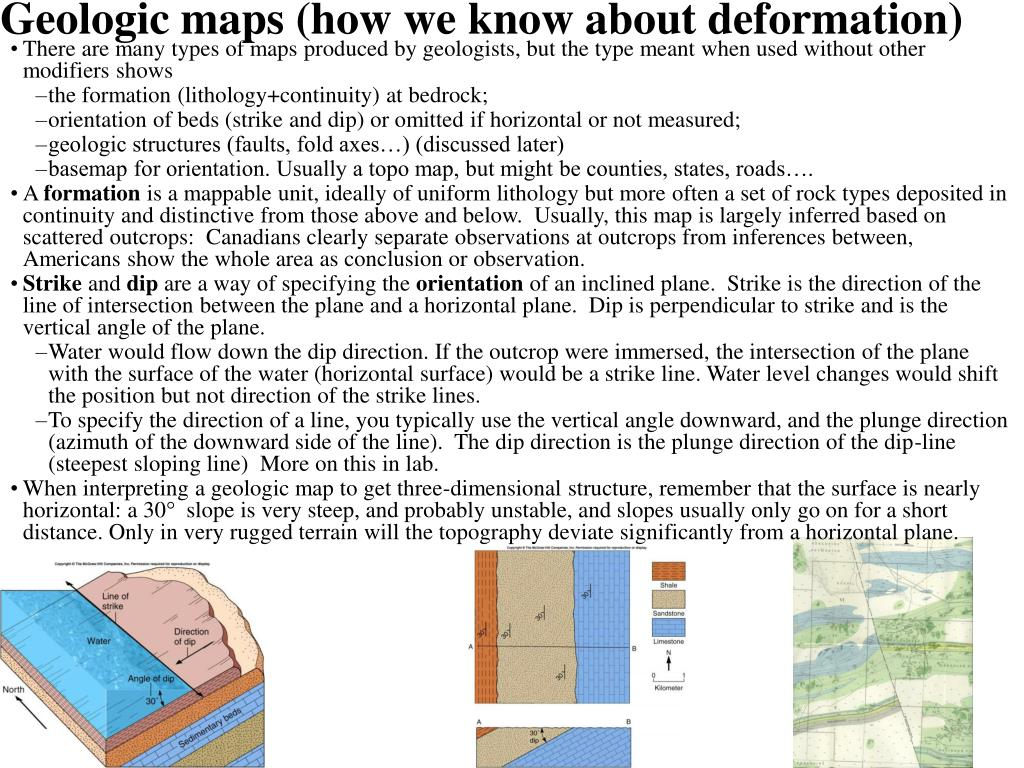 Geologic maps (how we know about deformation)