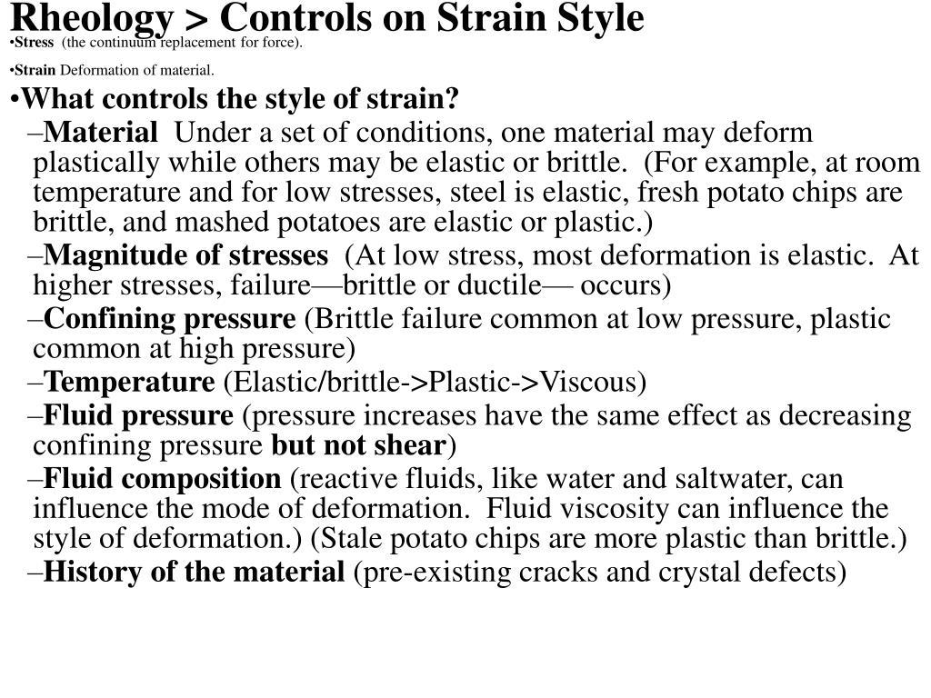 Rheology > Controls on Strain Style