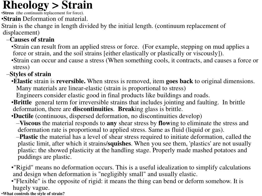 Rheology > Strain