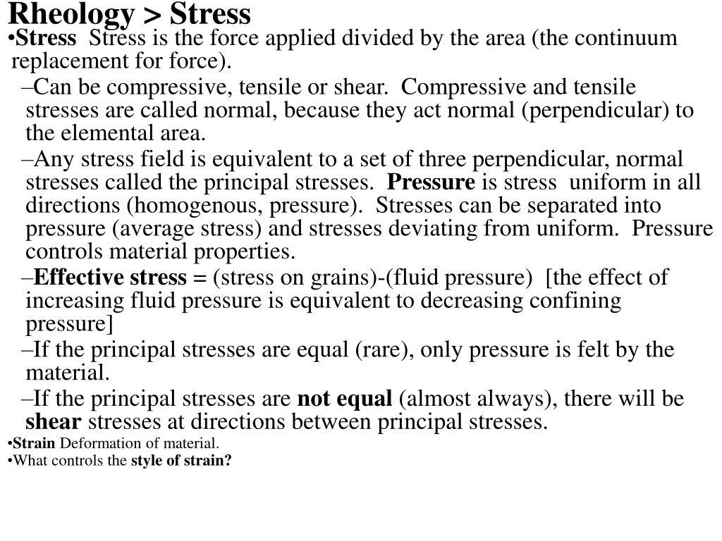 Rheology > Stress