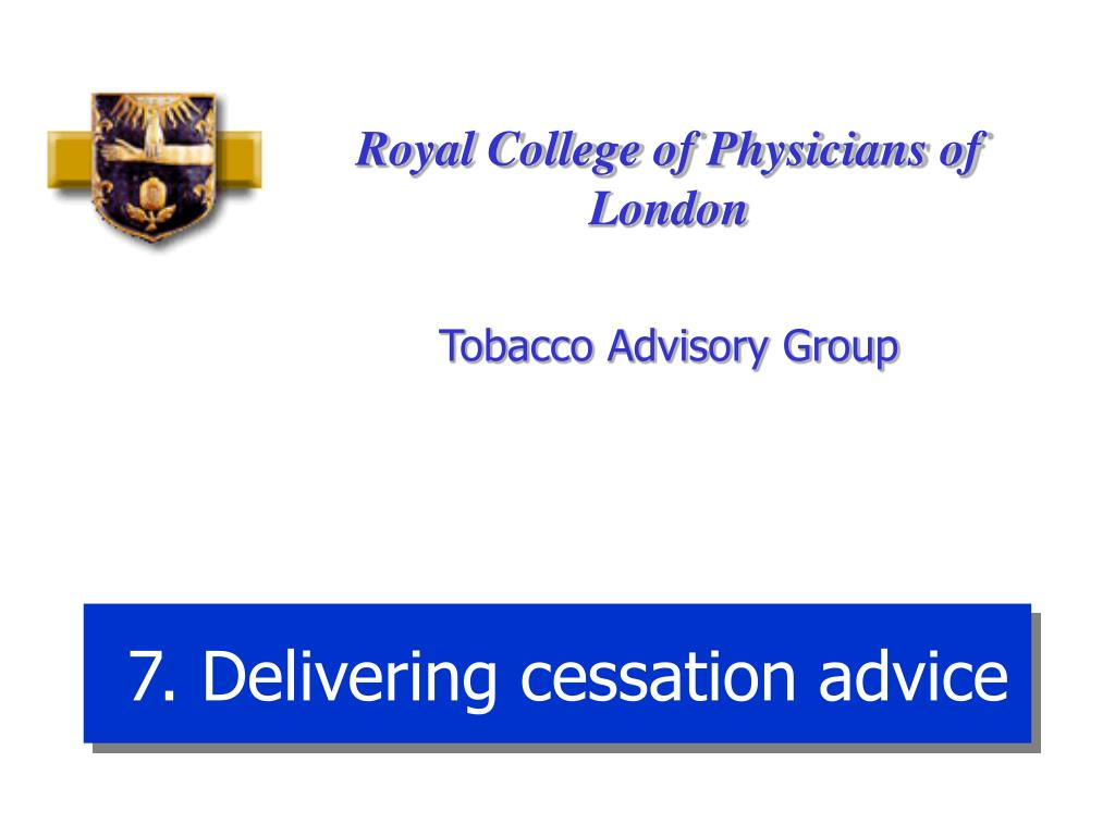 7. Delivering cessation advice