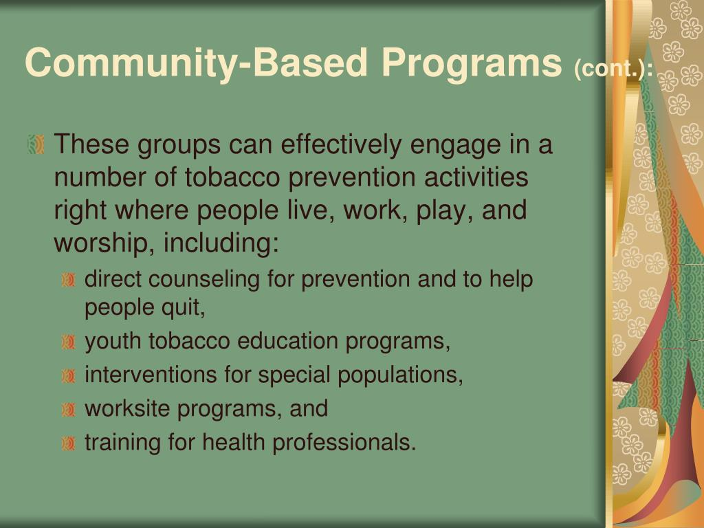 Community-Based Programs