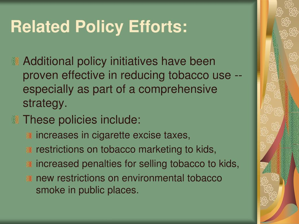 Related Policy Efforts:
