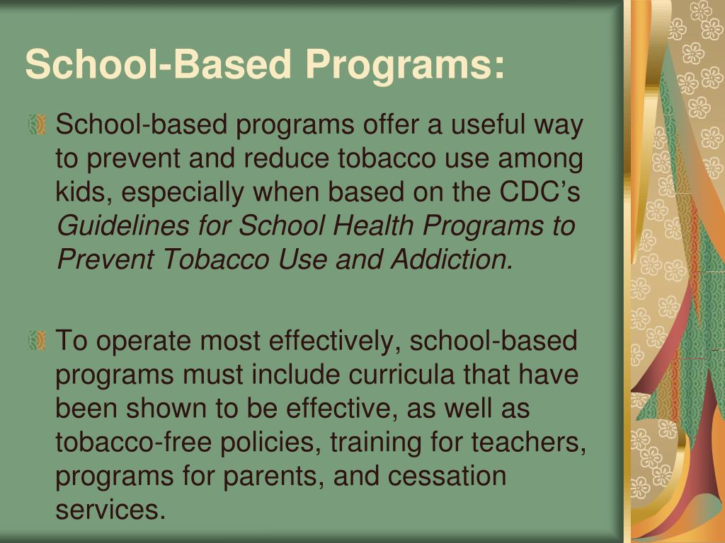 School-Based Programs: