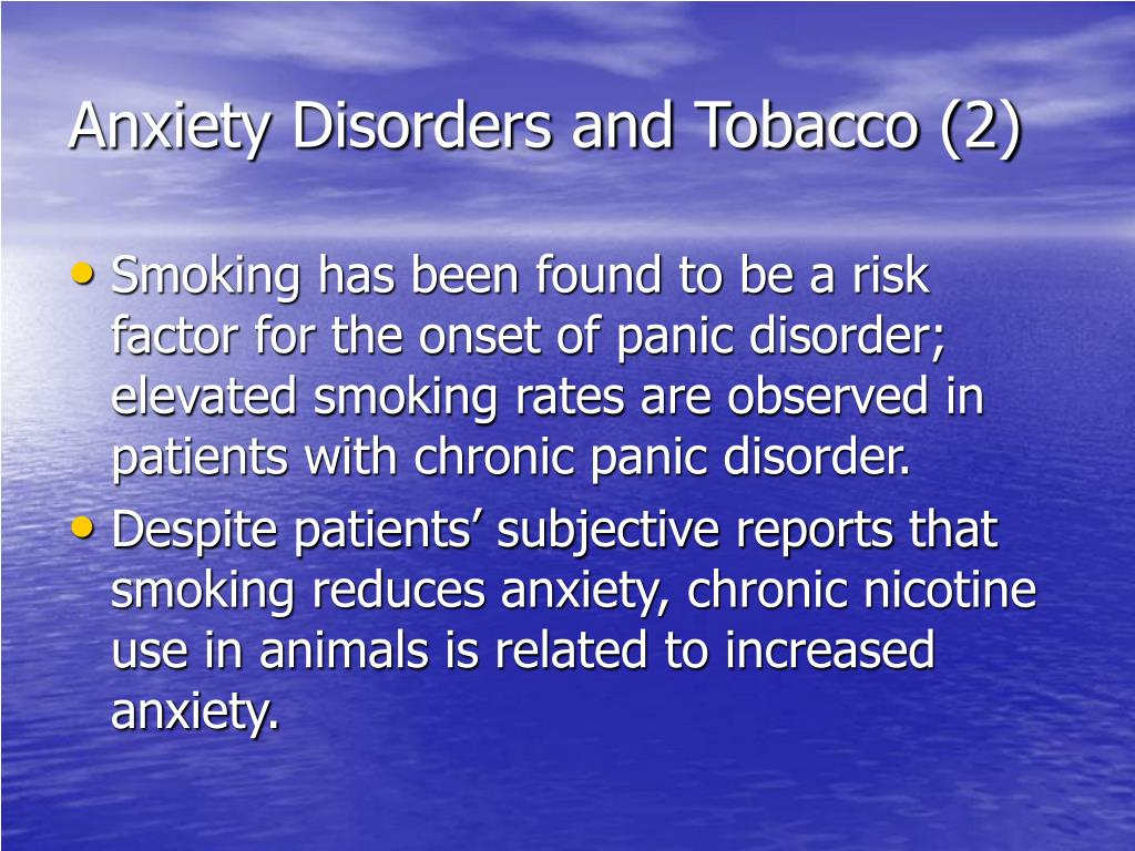 Anxiety Disorders and Tobacco (2)