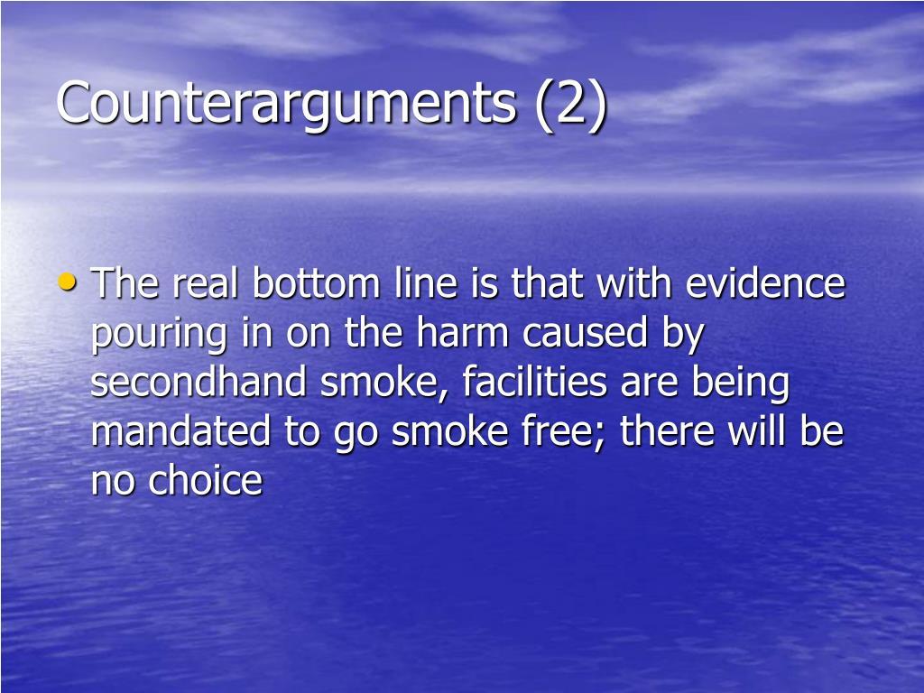 Counterarguments (2)