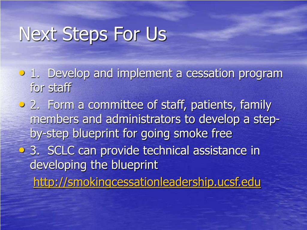 Next Steps For Us