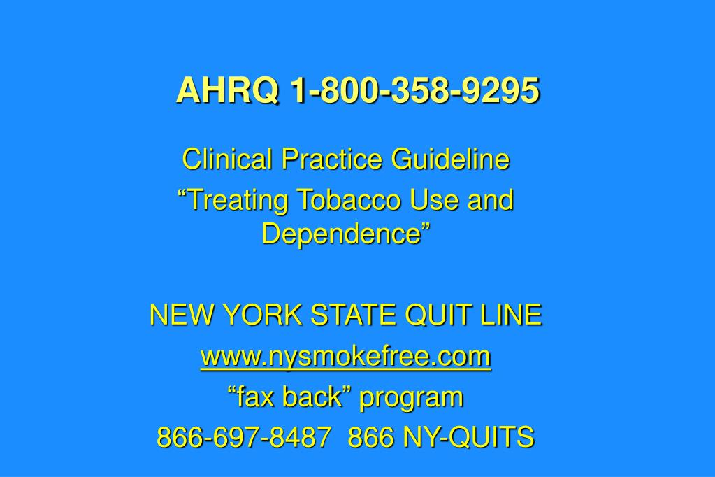 AHRQ 1-800-358-9295