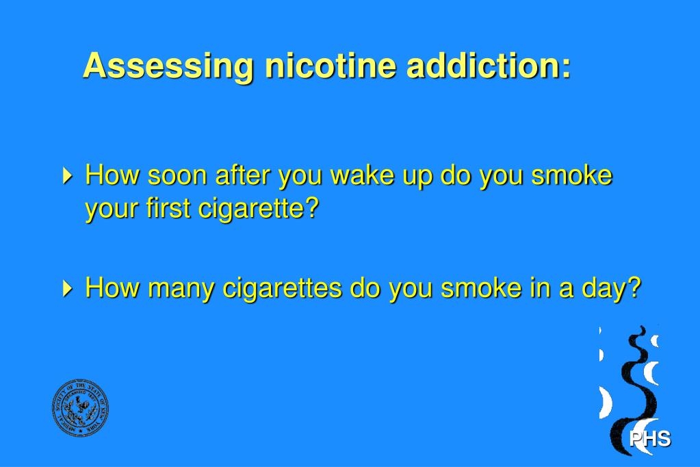 Assessing nicotine addiction: