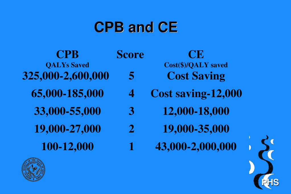 CPB and CE