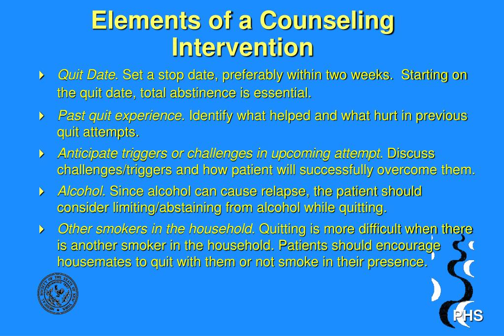 Elements of a Counseling Intervention