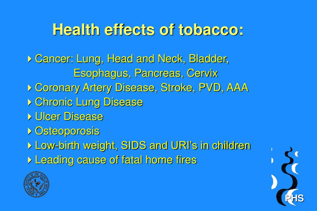 Health effects of tobacco: