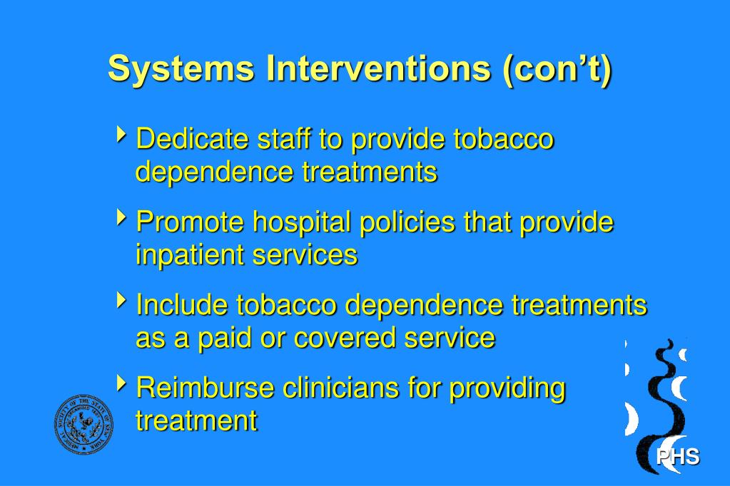 Systems Interventions (con't)