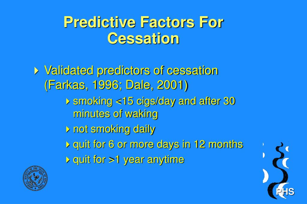 Predictive Factors For Cessation