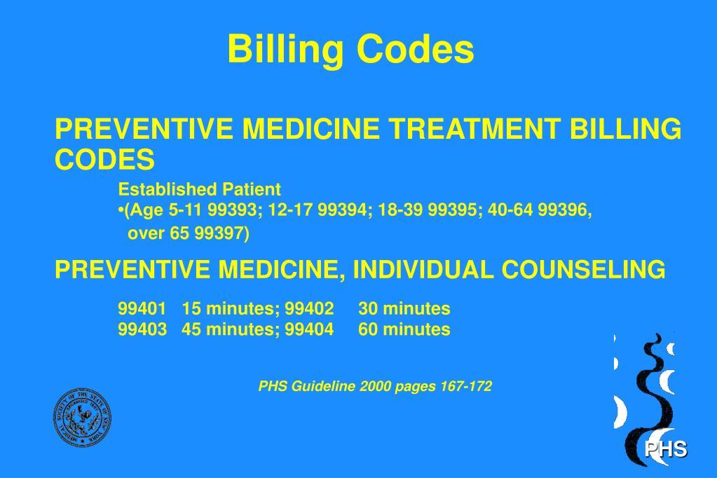 Billing Codes