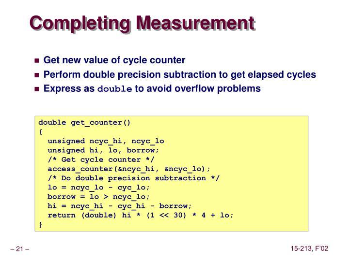 Completing Measurement
