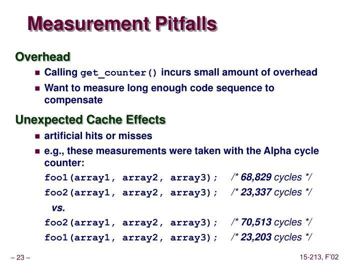 Measurement Pitfalls