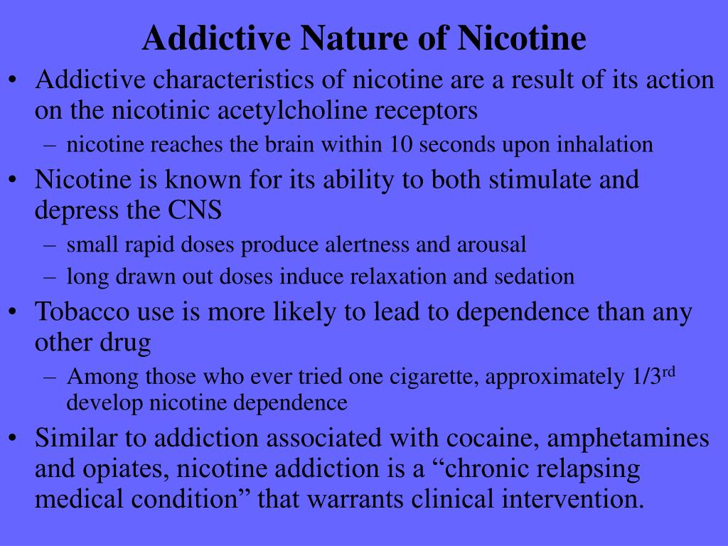 Addictive Nature of Nicotine