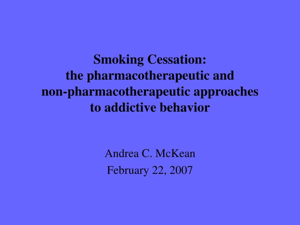 Smoking Cessation: